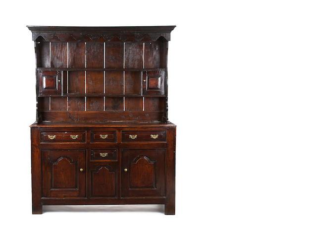 A George II oak high dresser North Wales, Caernarfonshire, circa 1730-50