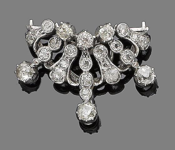 A diamond clip
