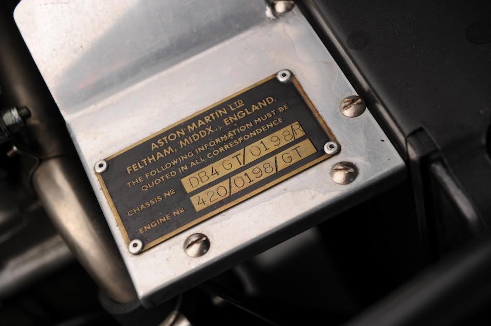 1991 Aston Martin DB4GT Zagato Sanction II Coupé  Chassis no. 0198/R Engine no. 420/0198/GT