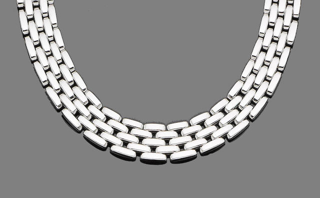 A fancy-link 'Panthère' necklace, by Cartier