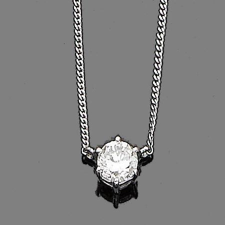 A diamond button-hole jewel