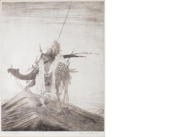 Abdur Rahman Chughtai (Pakistan, 1897-1975)  End of the Journey,