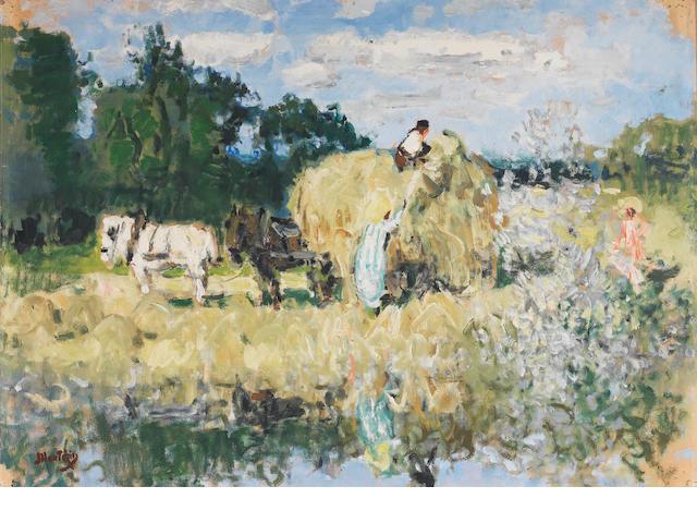 Pierre Eugène Montezin (French, 1874-1946) Le Faneurs