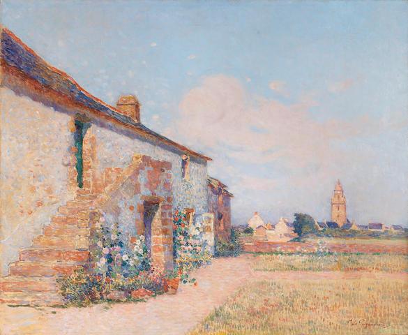 Fernand Puigaudeau (French, born circa 1864-1930) L'escalier arrière de Kervaudu