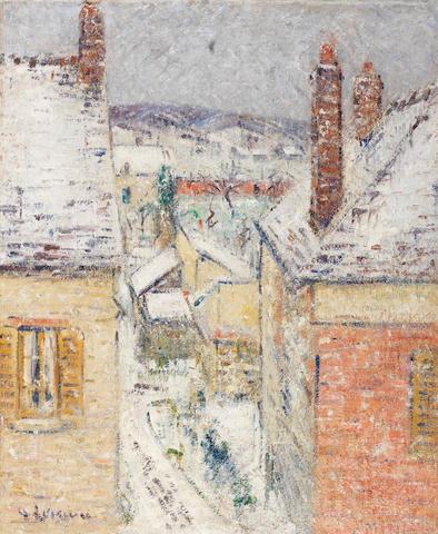 Gustave Loiseau (French, 1865-1935) Maisons en Normandie, Hiver