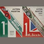 Three Aston Martin celebratory victory posters,