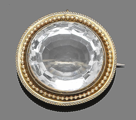 An aquamarine brooch/pendant,