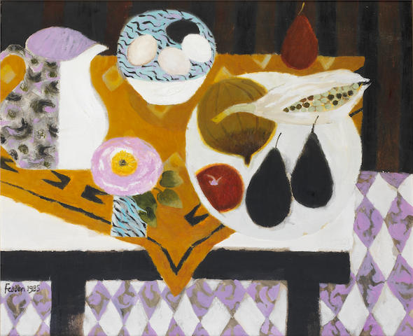 Mary Fedden R.A. (British, born 1915) Bowl of Eggs 52 x 61 cm. (20 1/2 x 24 in.)