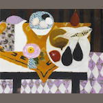 Mary Fedden R.A. (British, born 1915) Bowl of Eggs 51 x 61 cm.