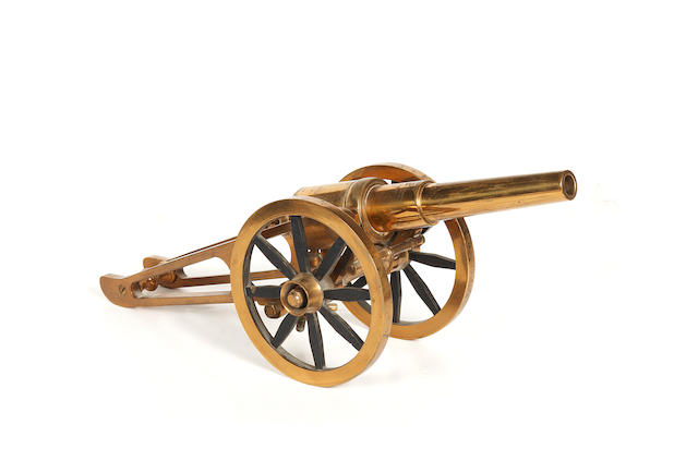 A Brass Miniature Cannon