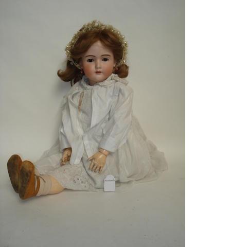 Large Catterfelder Puppen Fabrik 502 bisque head doll