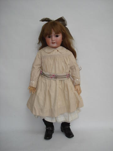 Large Simon & Halbig DEP bisque head doll, size 15