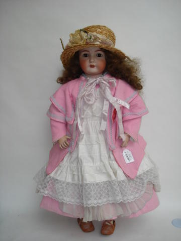 Large Simon & Halbig/K&R bisque head doll