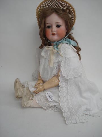 Large A.M 390 bisque head doll