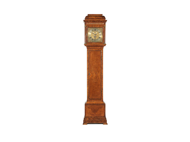 George Graham no. 707; A fine early 18th century walnut longcase clock