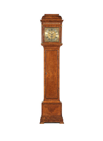 A very fine 18th century walnut longcase clock of exceptional provenance and with original numbered crank winding handle George Graham, London, number 707