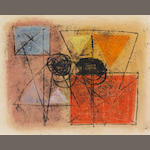 John Wells (1907-2000) Twelve unframed abstract monotypes