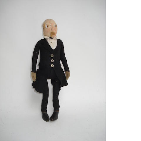 Steiff felt jointed Gentleman doll, circa 1909