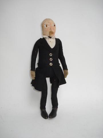 Steiff felt jointed Gentleman doll, circa 1909