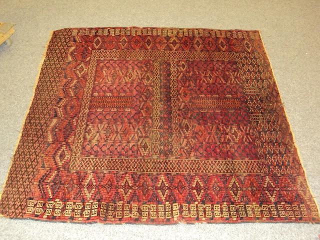 A Feraghan rug 200cm x 123cm and a Tekke Chuval 124cm x 72cm.