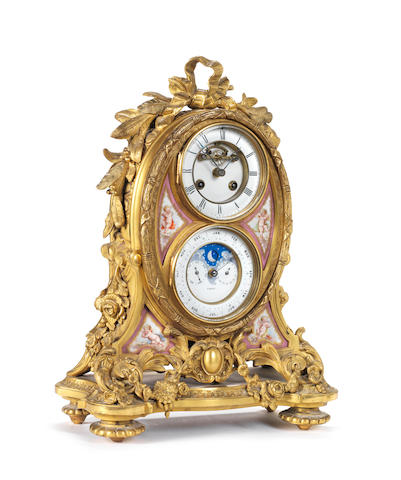 A good 19th century French ormolu mantel clock with perpetual calendar The movement marked JBD, 37015