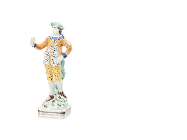 A Staffordshire pearlware figure in the manner of Wood Circa 1780-1800