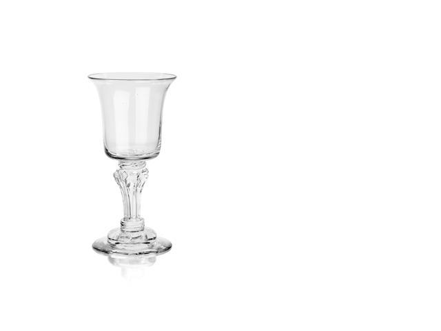 A rare pedestal stem goblet Circa 1750
