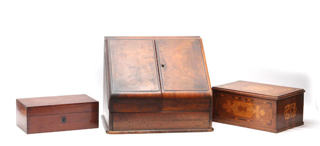 A collection of ten 19th century boxes