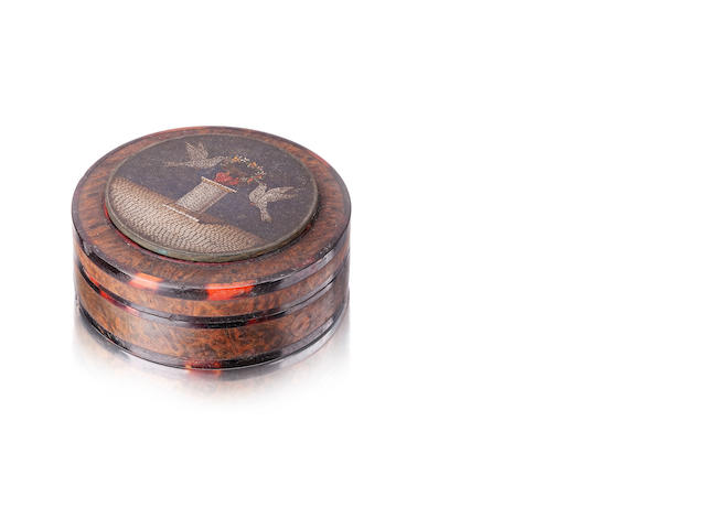 A 19th century micro mosaic snuff box