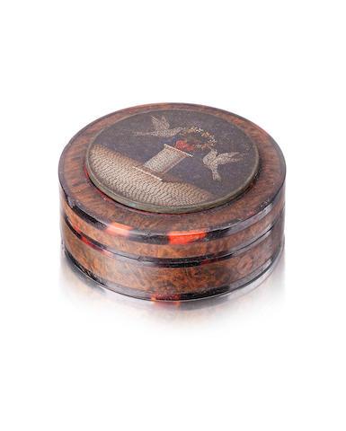 A 19th century micro mosaic snuff box