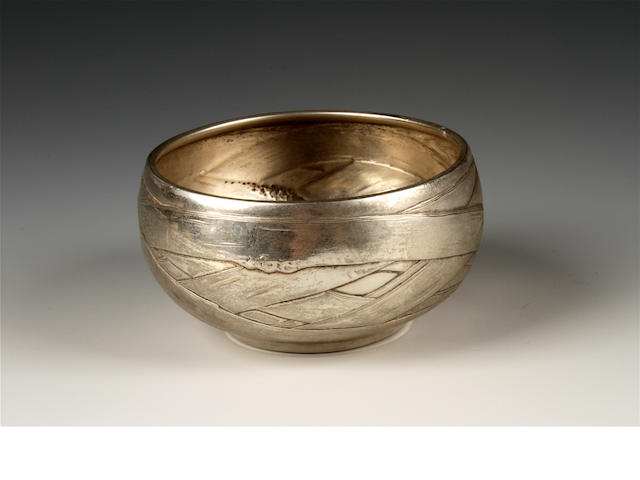 A 19th century Russian silver bowl by Pavel Sazikov, Moscow, 1880,