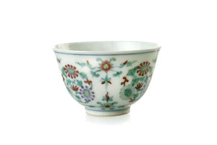 A Chinese porcelain wine cup 19th century
