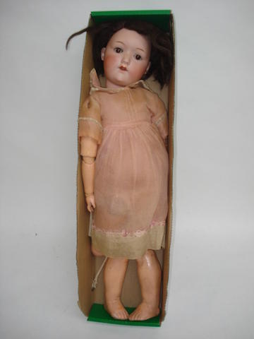 H.W bisque head doll