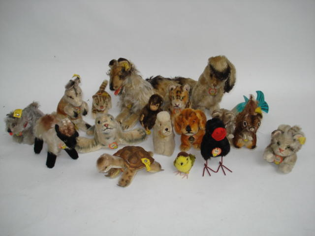 Collection of miniature Steiff animals, 1950's 18