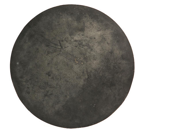 A 19th century pewter scale or flat plate Circa 1820-40