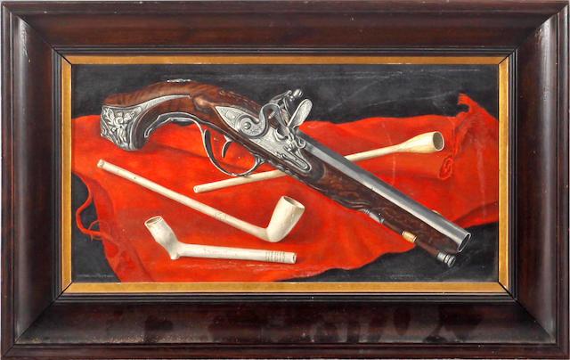 Cornelius Postma (Dutch, 1903-1977) The pipe and the pistol