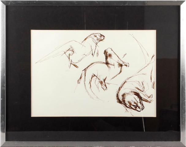Michael Ayrton (British, 1921-1975) Study for Otter III, 1959