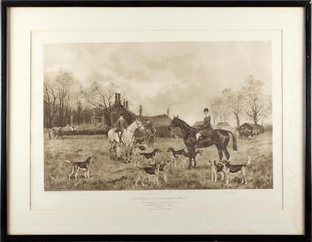Cecil Charles Windsor Aldin, RBA (British, 1870-1935) 'The South Berks Hunt'
