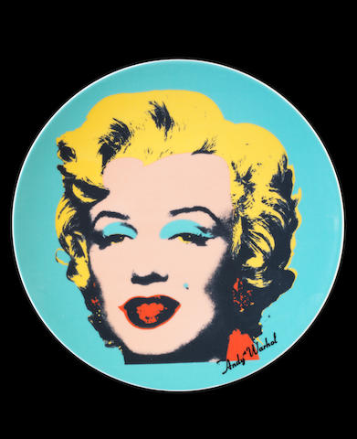 After Andy Warhol (American, 1928-1987) Marilyn The complete set of eight ceramic plates, each numbered 350/500, manufactured by Rosenthal, Germany, under a license from The Andy Warhol Foundation for the Visual Arts, Inc., New York, in the original presentation boxes, each 235 x 235mm (9 1/4 x 9 1/4in)(SH)(8)