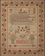 A sampler aberdeen and another date 1869