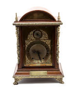 A late 19th century oak mantel clock  by Winterhalder