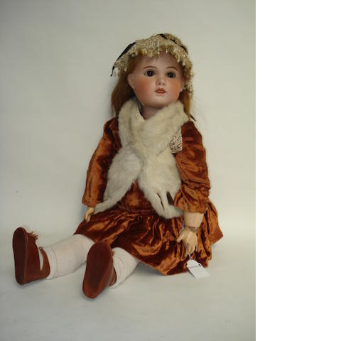 Tete Jumeau bisque head doll, size 14