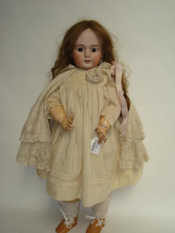 Large DEP Jumeau bisque head doll