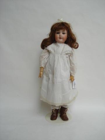 A.M 390 bisque head doll