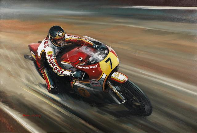 Dion Pears (1929-1985), 'Barry Sheene - Suzuki RG500',