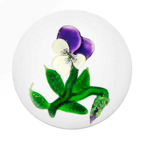 A Clichy pansy paperweight, circa 1850
