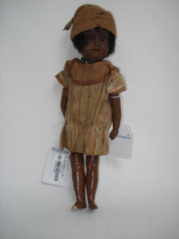 A.M 390 black bisque head doll