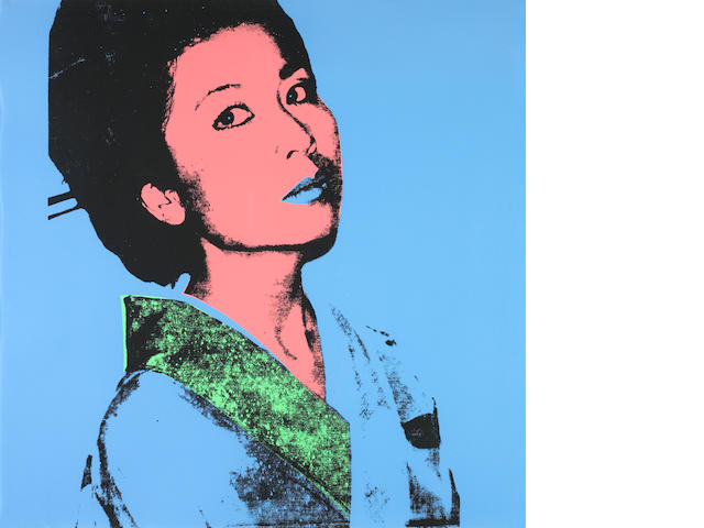 Andy Warhol (American, 1928-1987) Kimiko Screenprint in colours, 1981, on Stonehenge paper, signed and numbered from the edition of 200 in pencil verso, printed by Licht Editions Ltd, Denver, Colorado, published by Colorado State University, Department of Art, Fort Collins, Colorado, 914 x 914mm (36 x 36in)(SH)