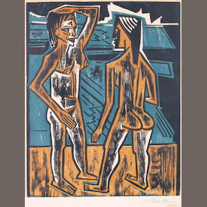 Max Pechstein (German, 1881-1955) Zweisprache Colour woodcut, 1920, on wove, signed and dated in pencil, 400 x 318mm (15 3/4 x 12 1/2in)(I)