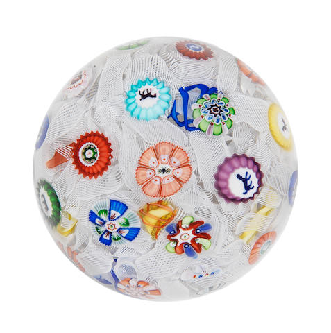 A Baccarat spaced millefiori paperweight, dated 1848